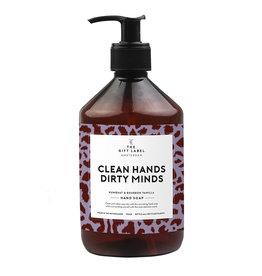 The gift label Handzeep - Clean hands dirty minds