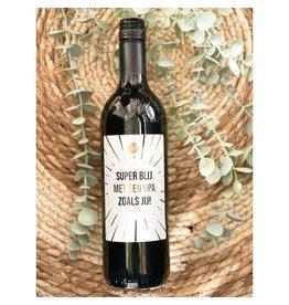 The Big Gifts Wijn rood 'Super blij met een opa zoals jij!'