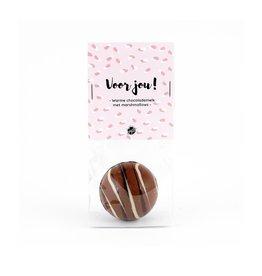The Big Gifts Chocolade bomb met marshmallows - Voor jou!