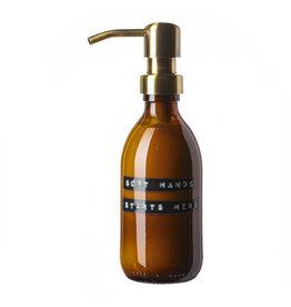 Wellmark Handcrème aloë vera bruin glas messing pomp 250ml 'soft hands starts here'