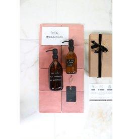 Wellmark Giftbox soft hands bruin glas zwarte pomp