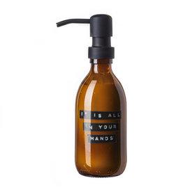 Wellmark Handcrème aloë vera bruin glas zwarte pomp 250ml 'it is all in your hands'