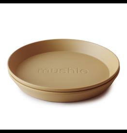 Mushie Mushie Bord Rond | Mosterd 2 stuks