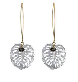 Pimps and Pearls Oorsieraad Botanical Paradise 02 Shell Goldplated - Earfashion