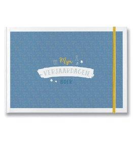 Maan Mijn Verjaardagenboek - blauw