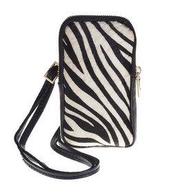 Elvy Alicia Phone Bag - Black-Zebra