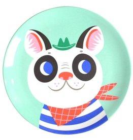 Petit Monkey Melamine bord -Franse Bulldog - Mint