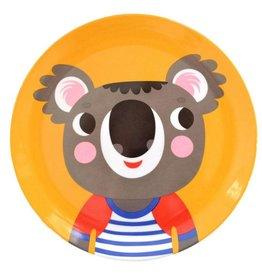 Petit Monkey Melamine bord - Koala - Geel