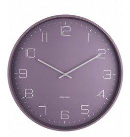 Karlsson Wall Clock Lofty  - Dark Purple - 40cm