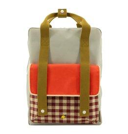 Sticky Lemon Sticky Lemon Backpack Large - Gingham - Pool green - Apple red - Leaf green