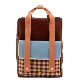 Sticky Lemon Sticky Lemon Backpack Large - Gingham - Cherry red - Sunny blue - Berry swirl