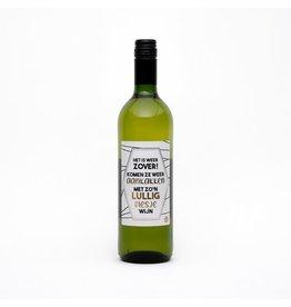 The Big Gifts Wijn wit 'het is weer zover...lullig'
