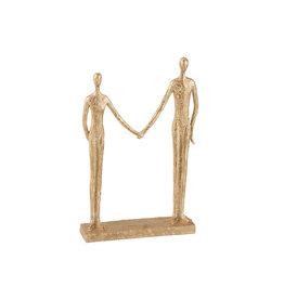 Bijzonder Design Store Koppel Man-Vrouw Hand in Hand - Poly Goud