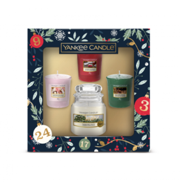Yankee Candle Countdown To Christmas 1 Small Jar & 3 Votive Gift Set