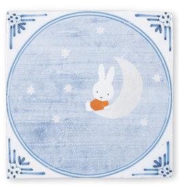 StoryTiles Miffy on the Moon   Nijntje in de Maneschijn   10x10cm