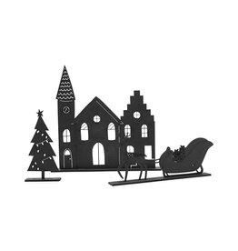 Zoedt Kerstset - kerkje, slee en boompje