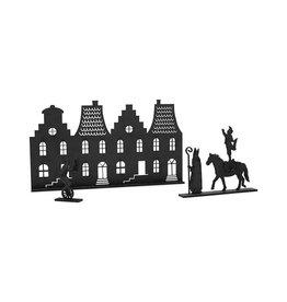 Zoedt Grachtenpandjes met Sint met paard en pietjes
