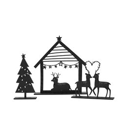 Zoedt Kerstset - kerststal, kerstboom en hertjes