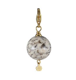 Pimps and Pearls Edelsteen bedel Maxi Rock beige Jaspis goud