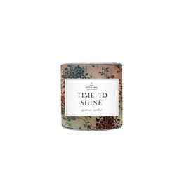 The Gift Label Geurkaars in blik small  - Time to Shine - Jasmijn Vanille