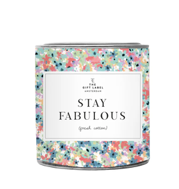 The Gift Label Grote geurkaars in blik - Stay Fabulous - Fresh Cotton