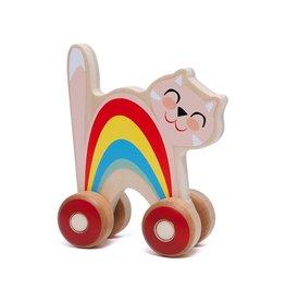 Petit Monkey Duwfiguur Kat - Hout - Kinderen 1jr+