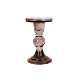 PT Living Candle holder Glass Art large - Chocolate Brown