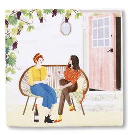 StoryTiles Wine o'Clock| Tijd voor een Wijntje | 10x10cm
