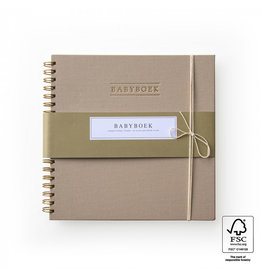 House of Products Babyboek - Linnen - Taupe