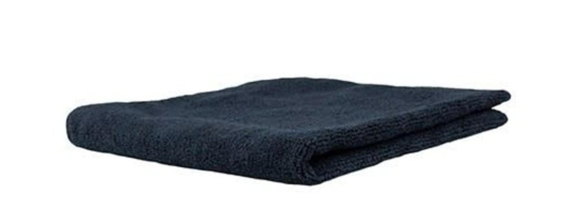 Professional Microfibre Black Towel 40x40