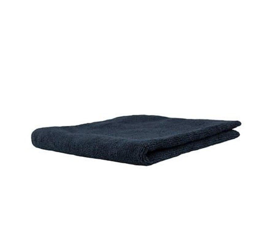 Professional Microfibre Black Towel 40x40-1
