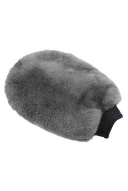 Genuine Sheepskin & Mesh Bug Remover Wash Mitt