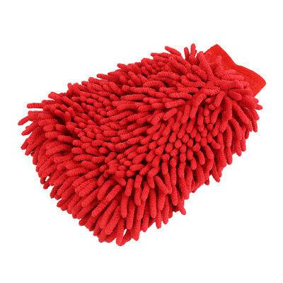 Chenille Washmitt Microfiber Red-1