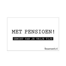 kaartje - Met pensioen!