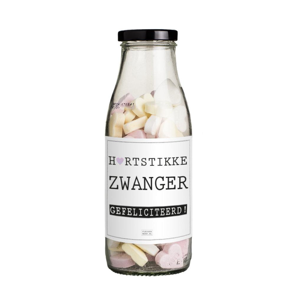 Flessenwerk Hartstikke zwanger, gefeliciteerd!