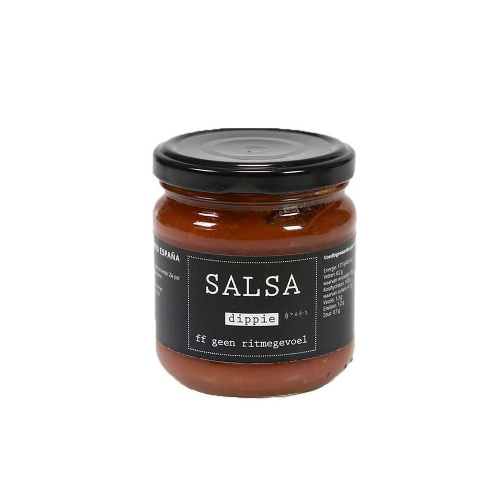 Flessenwerk SALSA dippie ~ ff geen ritmegevoel - tortilla dip saus