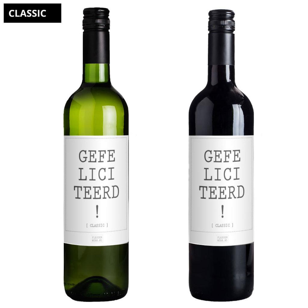 Flessenwerk Wine - Gefeliciteerd! - Classic