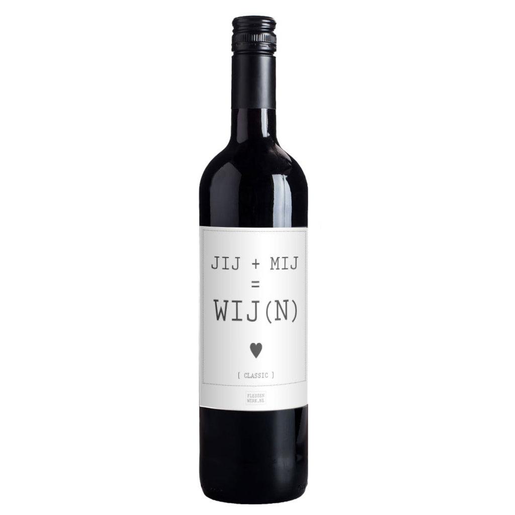 Flessenwerk Wijn - Jij + Mij = Wij(n) - Classic