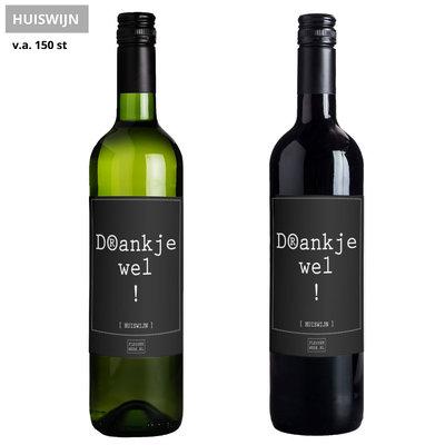 Flessenwerk Wijn - Drankjewel! - Huiswijn
