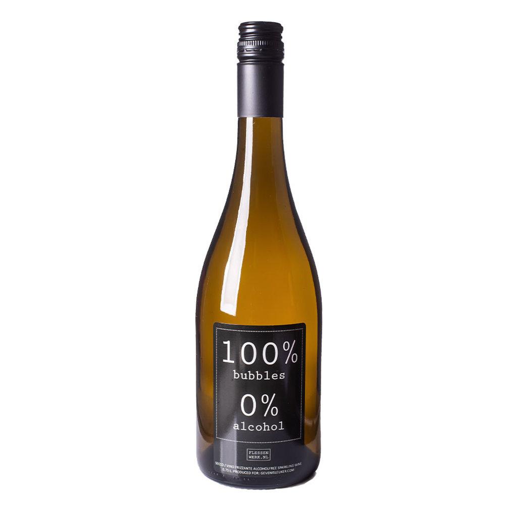 Flessenwerk 100 % bubbles - 0 % alcohol