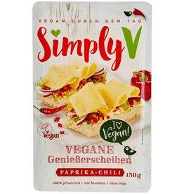 Simply V Plakjes vegan kaas paprika chili
