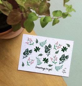 BLOOM your message Kaart met bloemzaadjes - groetjes