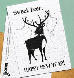 BLOOM your message Kaart met bloemzaadjes - sweet deer
