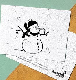 BLOOM your message Kaart met bloemzaadjes - snowman