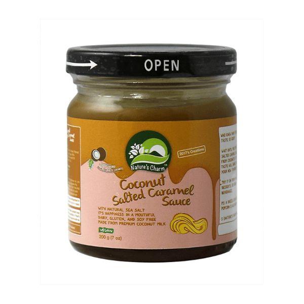 Nature's Charm Kokos salted caramel saus