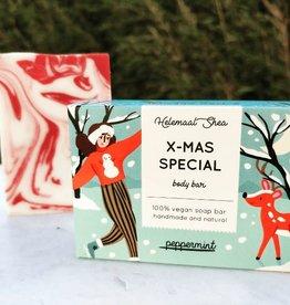 Helemaal Shea Solid kerst lichaamszeep (limited)