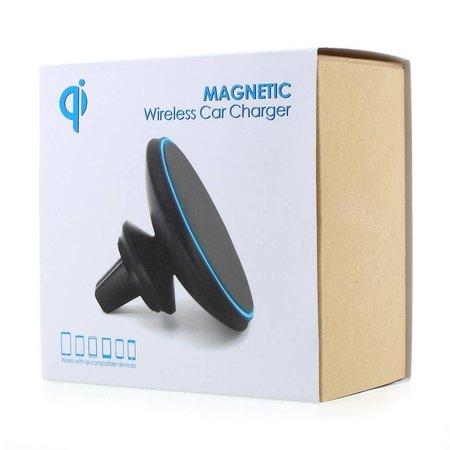 Draadloze Magnetische Ventilatie Autolader - Zwart