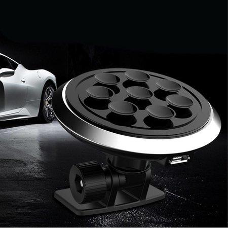2-in-1 Design Vacuum Draadloze Autolader - Zwart