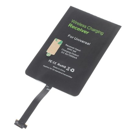 Qi draadloze ontvanger universeel Micro USB