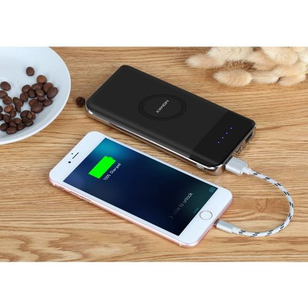 MOMAX MOMAX iPower Air 10000 mAh Wireless Charging Power Bank - Zwart